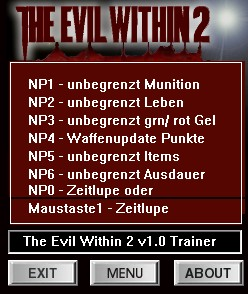 The Evil Within 2: Trainer (+7) [1.0] {dR.oLLe}