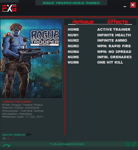 Rogue Trooper Redux: Trainer (+6) [1.0] {FutureX}