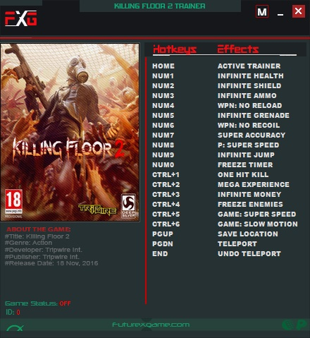 Killing Floor 2: Trainer +17 v1067 {FutureX}
