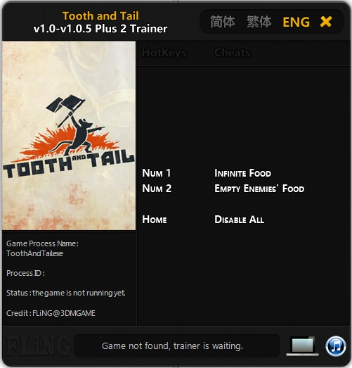 Tooth and Tail: Trainer (+2) [1.0 - 1.0.5] {FLiNG}