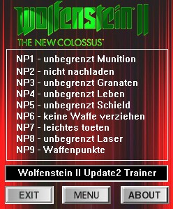 Wolfenstein 2: The New Colossus: Trainer (+8) [Update 2] {dR.oLLe}
