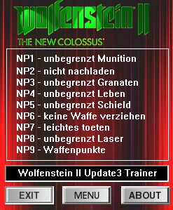Wolfenstein 2: The New Colossus: Trainer (+8) [Update 3] {dR.oLLe}