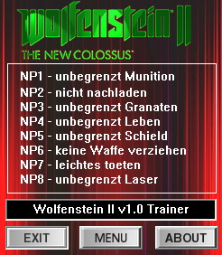 Wolfenstein 2: The New Colossus: Trainer (+8) [1.0] {dR.oLLe}