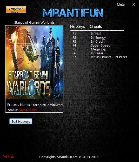Starpoint Gemini Warlords: Trainer (+8) [1.500.1] {MrAntiFun}