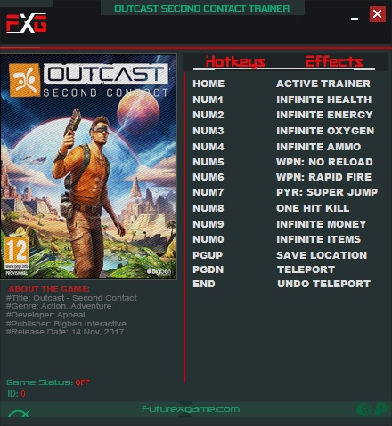 Outcast - Second Contact: Trainer (+11) [1.0] {FutureX}