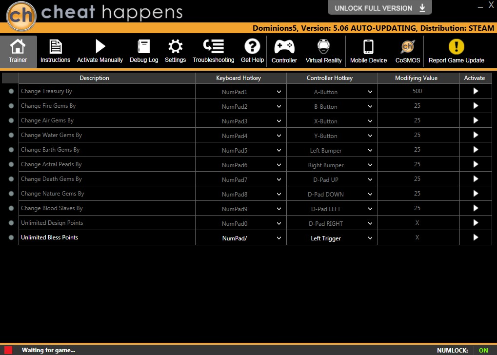 Dominions 5: Trainer +11 v5.03 {CheatHappens.com}