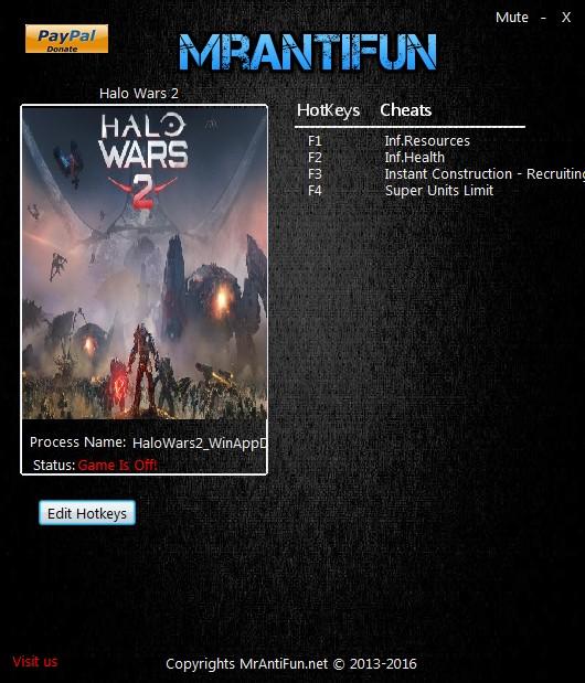Halo Wars 2: Trainer (+5) [1.11.2901] {MrAntiFun}