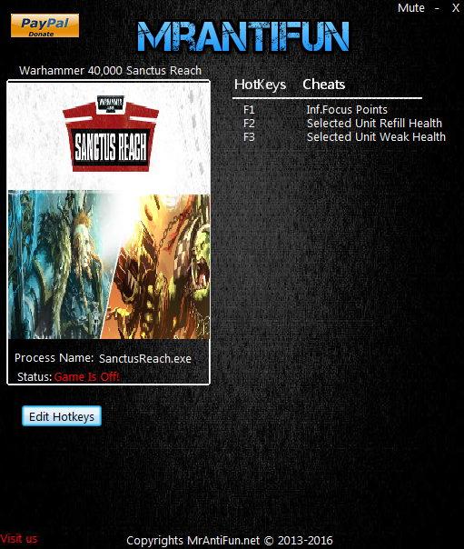 Warhammer 40k: Sanctus Reach - Trainer +3 v.1.1.1 {MrAntiFun}