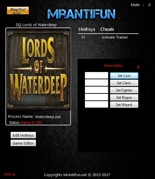 D&D Lords of Waterdeep: Trainer +5 v2.0.3.071 {MrAntiFun}