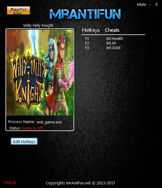 Willy-Nilly Knight: Trainer +3 v1.1.3 {MrAntiFun}