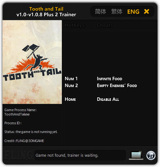 Tooth and Tail: Trainer +2 v1.0 - 1.0.8 {FLiNG}