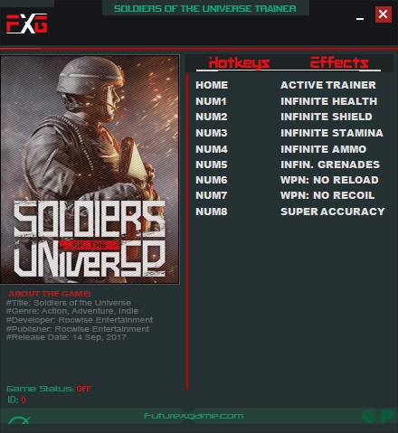 Soldiers of The Universe: Trainer (+8) [1.0] {FutureX}