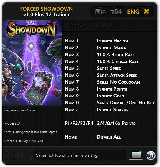 FORCED SHOWDOWN: Trainer (+12) [1.0: 32/64bit] {FLiNG}