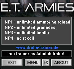 E.T. Armies: Trainer (+4) [1.0] {dR.oLLe}