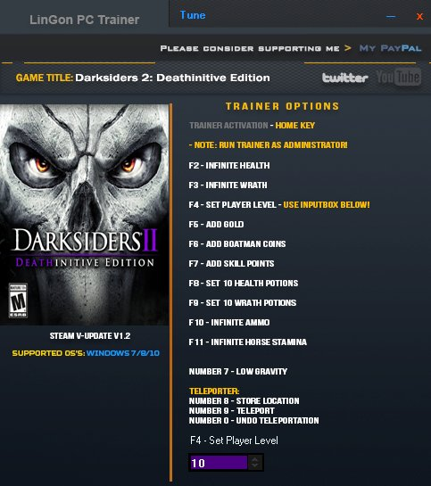 Darksiders 2: Deathinitive Edition: Trainer (+13) [1.2] {LinGon}
