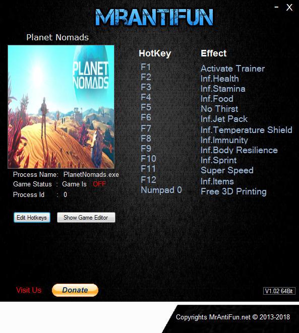 Planet Nomads: Trainer +12 v0.9.5.0 {MrAntiFun}
