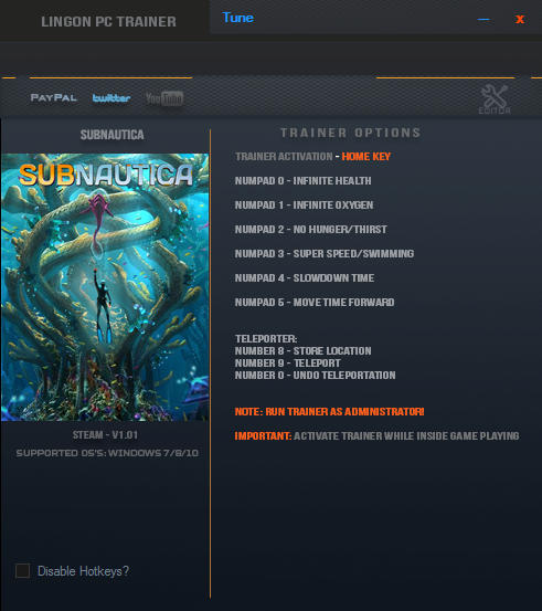 <b>Subnautica</b>: Trainer +7 v1.01 {LinGon} - Download - GTrainers