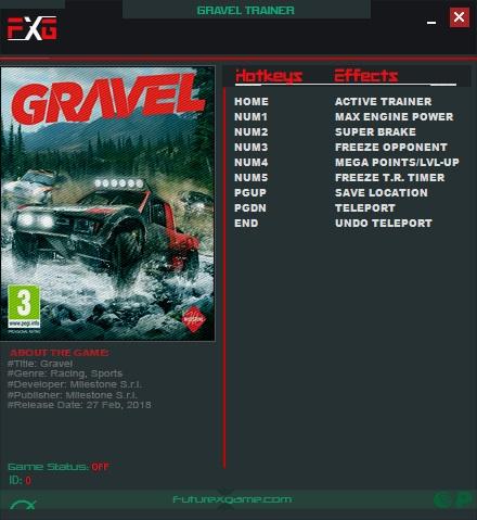Gravel: Trainer +6 v1.0 {FutureX}