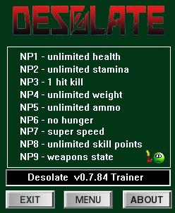 Desolate: Trainer +9 v0.7.84 {dR.oLLe}