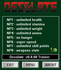 Desolate: Trainer +8 [0.7.58 - 0.7.63] {dR.oLLe}