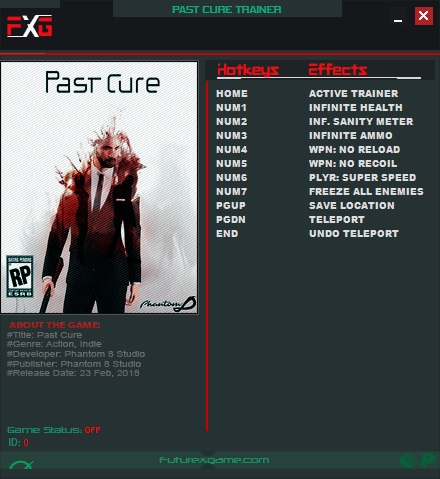 Past Cure: Trainer +8 v1.0 {FutureX}