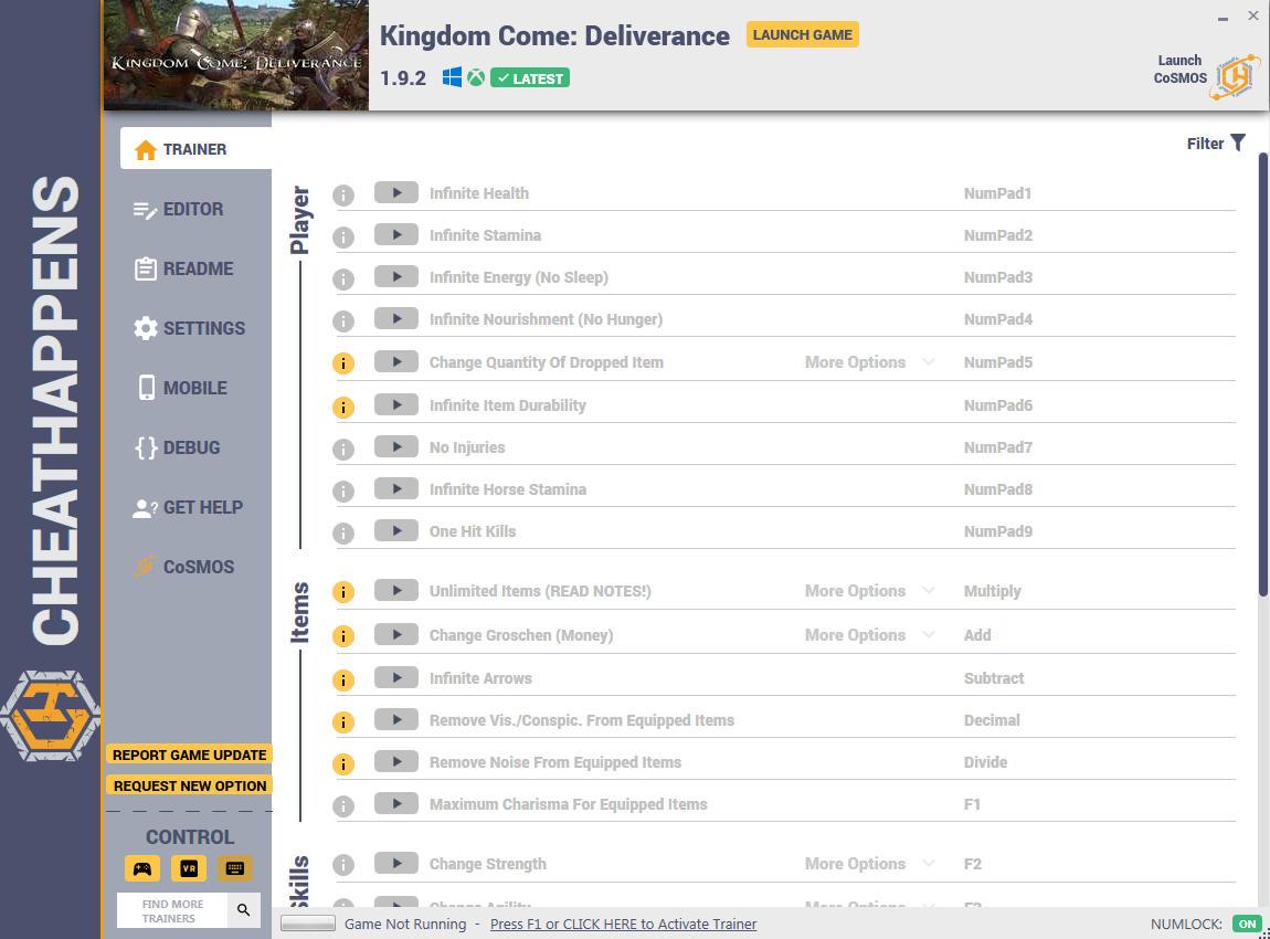 Kingdom Come: Deliverance - Trainer +28 v1.3.1 {CheatHappens.com}