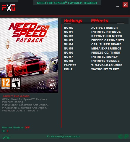 need for speed payback serial key download