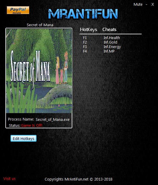 Secret of Mana: Trainer +4 v03.05.2018 {MrAntiFun}