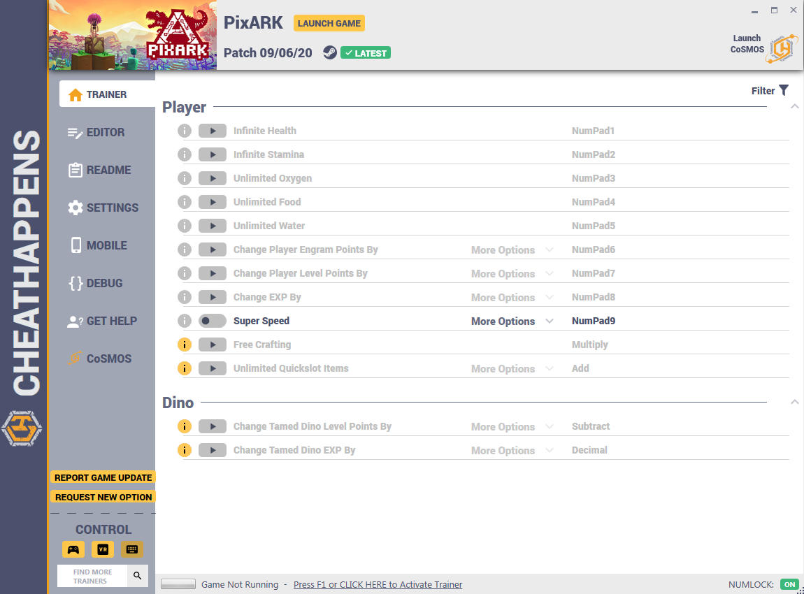 PixARK: Trainer +13 (PATCH 04.03.2018) {CheatHappens.com}