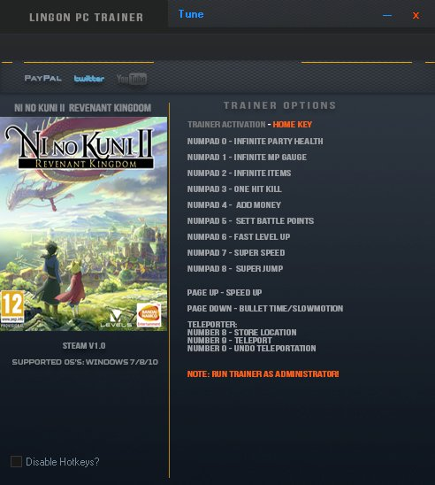 Ni no Kuni II: Revenant Kingdom: Trainer +13 v1.0 {LinGon}