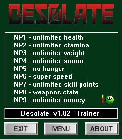 Desolate: Trainer +9 v07.77 {dR.oLLe}
