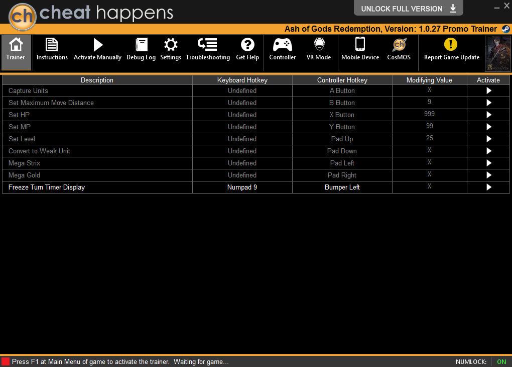 Ash of Gods: Redemption - Trainer +8 v1.0.27 {CheatHappens.com}