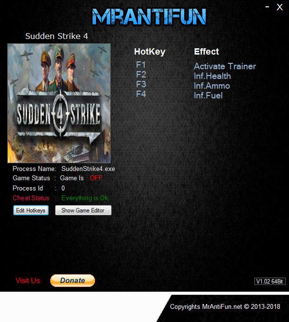 Sudden Strike 4: Trainer +3 v1.12.28520 {MrAntiFun}