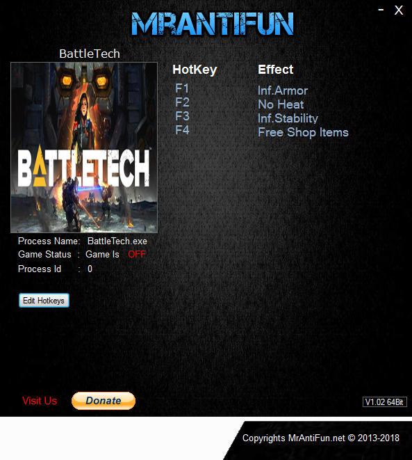 Battletech (2018): Trainer +4 v1 6 0 {MrAntiFun} - Download - GTrainers
