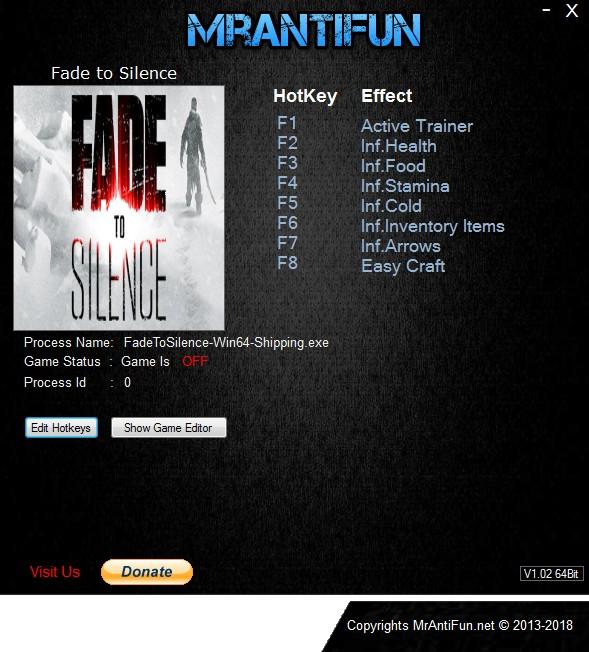 Fade to Silence: Trainer +7 v1.0.2022 {MrAntiFun}