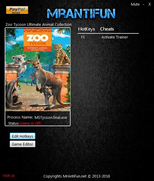 Zoo Tycoon: Ultimate Animal Collection - Trainer +1 v05