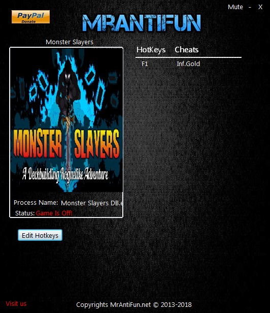 Monster Slayers: Trainer +1 v05.05.2018 {MrAntiFun}