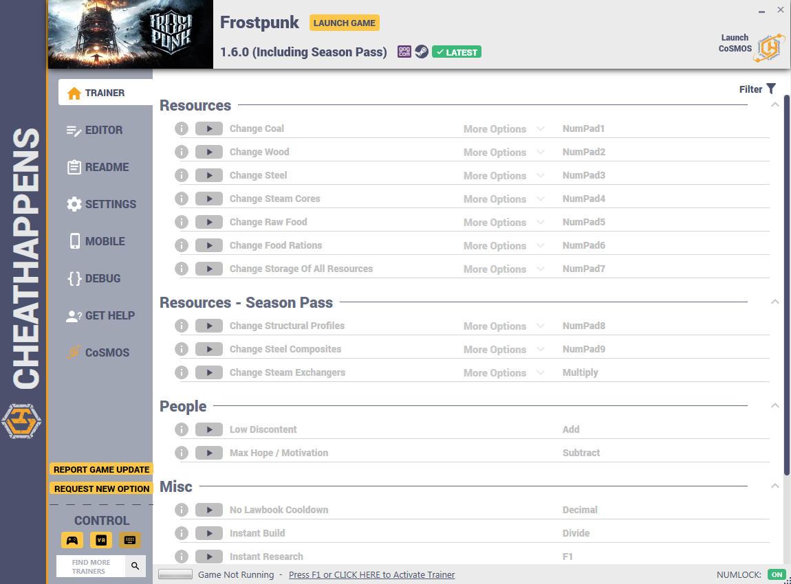 Frostpunk: Trainer +14 v1.2.1 {CheatHappens.com}
