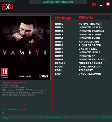 Vampyr: Trainer +12 v1.0 {FutureX}
