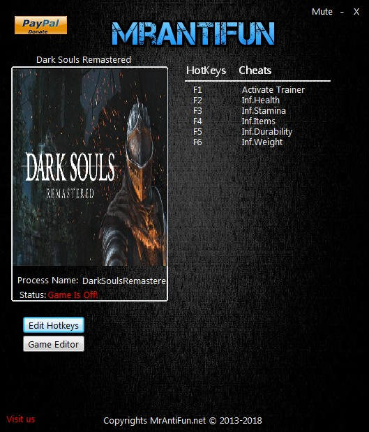 Dark Souls: Remastered - Trainer +14 v1.01 {MrAntiFun}