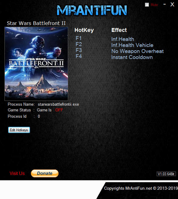 Star Wars: Battlefront 2 (2017): Trainer +4 v01.11.2018 {MrAntiFun}