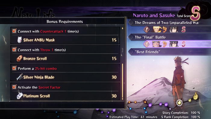 Naruto Shippuden: Ultimate Ninja Storm 4 - Completed Save Game