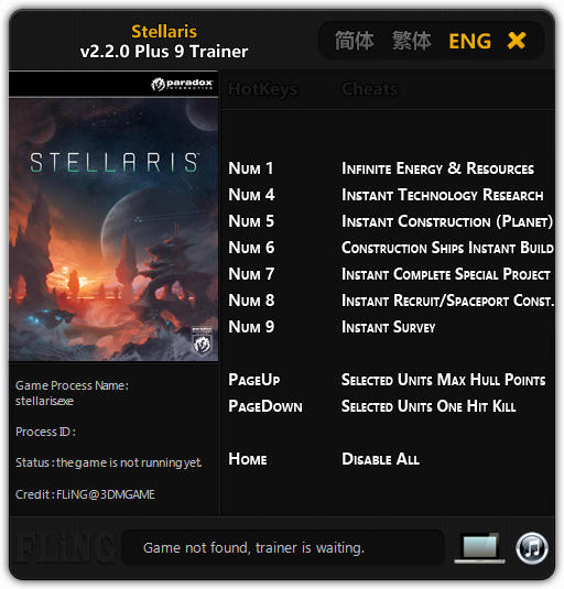 Stellaris: Trainer +11 v2 2 0 {FLiNG} - Download - GTrainers