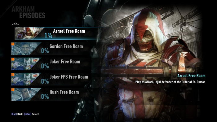 Batman: Arkham Knight: Built-In Free Roam Mod