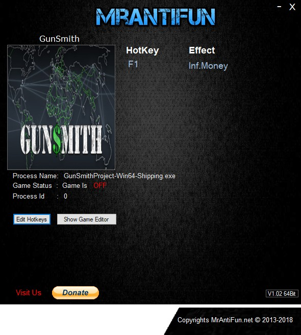 GunSmith: Trainer +1 v0.0.0.28b {MrAntiFun}