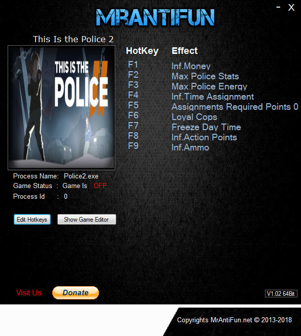 This Is the Police 2: Trainer +9 v1.0.4.0 {MrAntiFun}
