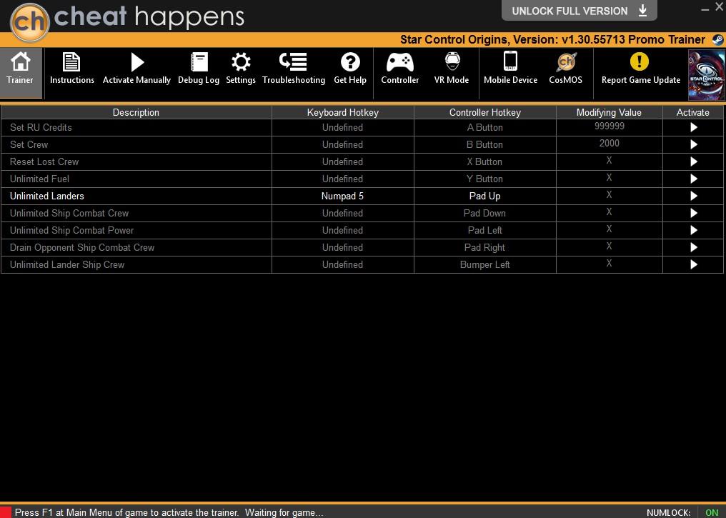 Star Control: Origins - Trainer +9 v1.0.52719 {CheatHappens.com}