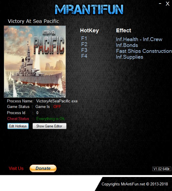 Victory At Sea Pacific: Trainer +4 v1.0.3 {MrAntiFun}