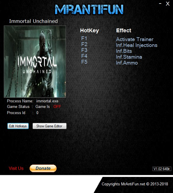 Immortal: Unchained - Trainer +4 v14.09.2018 {MrAntiFun}