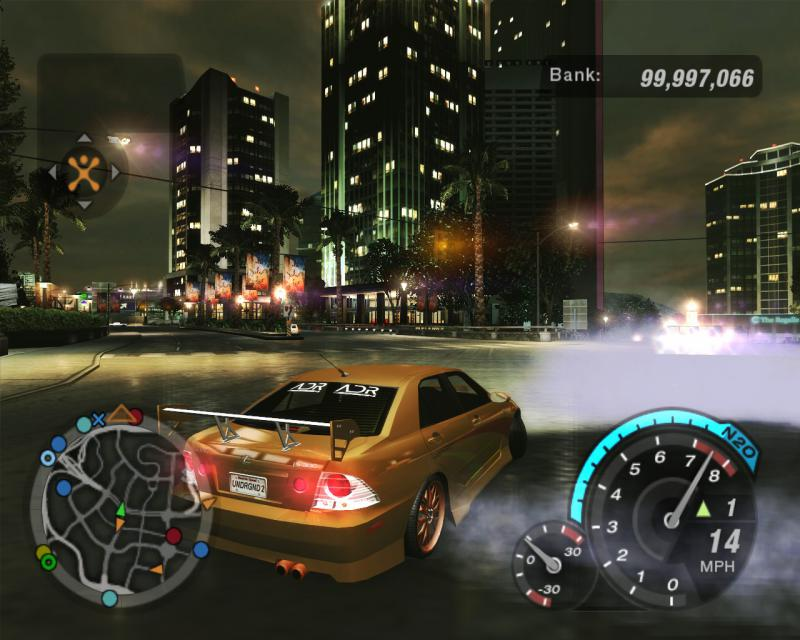 Need for Speed: Underground 2: Save Game (3 cars and a lot of money)